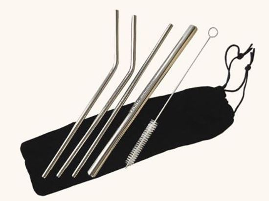 圖片 SILWA西華#316不鏽鋼吸管六件組附提袋