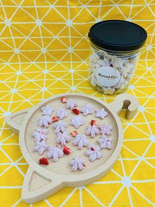 圖片 甜點日常-草莓馬林糖
