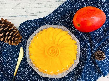 圖片 甜點日常-芒果花花塔