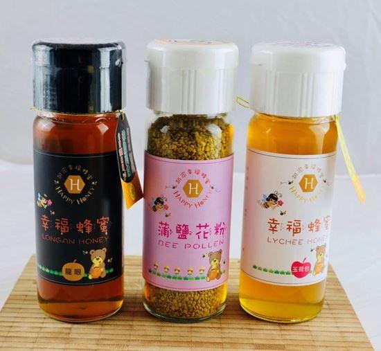 圖片 《胡家幸福蜂蜜社會企業》-甜蜜組合(龍眼純蜂蜜+玉荷包純蜂蜜+蒲鹽花粉)