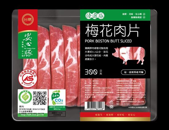圖片 台糖安心豚梅花肉片 300g/包