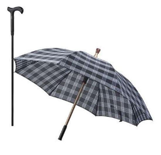 圖片 585*8K分離式手杖傘福懋雙色格子傘布 D0160-00