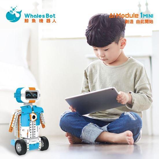圖片 鯨魚積木機器人 AI Module 1SMINI號 AI程式語言教育機器人