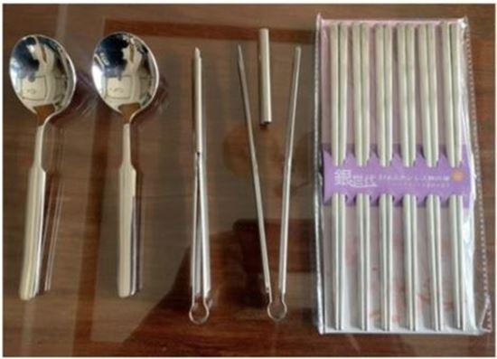 圖片 LINOX 方形雷雕止滑316不鏽鋼筷湯夾10件組
